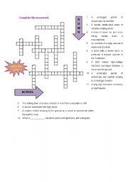crossword about natural disasters esl worksheet by fatima2g. Black Bedroom Furniture Sets. Home Design Ideas
