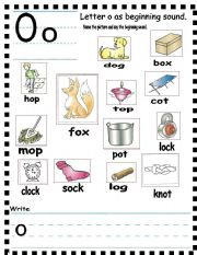 ABC Short vowel o as middle sound
