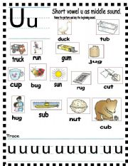 ABC Short vowel u