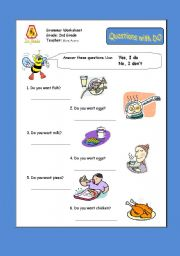 English Worksheets: Questions with DO