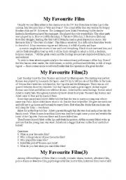 English Worksheets: My favourite film
