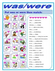 English worksheets: was were worksheets, page 11