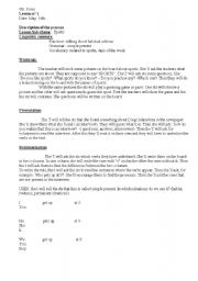 English worksheet: Simple present lesson plan based on sports
