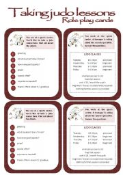 English Worksheet: Role play cards series: Judo lessons