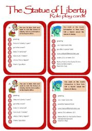 English Worksheet: Role play cards series: The Statue of Liberty