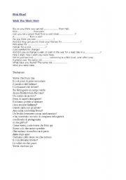 English Worksheet: Pink Floyd - Wish you were here