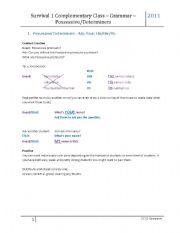 english worksheets possessive determiners. Black Bedroom Furniture Sets. Home Design Ideas