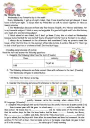English Worksheet: full term english test n 3
