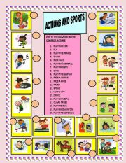 English Worksheets: ACTIONS AND SPORTS