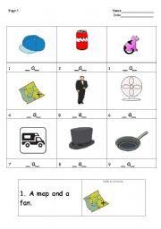 English worksheet: Learning reading and writing Part 2