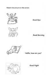 English Worksheets: Greetings.