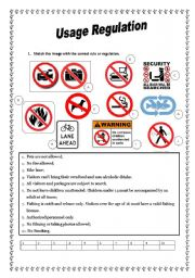 English Worksheets: Rules and Regulations