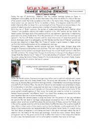 English Worksheet: Let�s go to Japan - 2 Part 1 : Japanese Wedding Ceremony