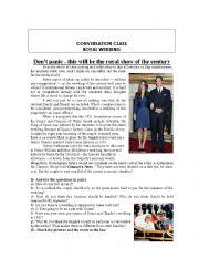 Conversation Class Royal Wedding