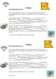 English Worksheet: In Egypt