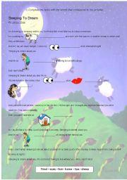 English Worksheets: Sleeping To Dream By Jason Mraz