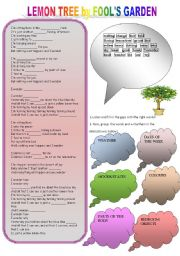 English Worksheet: Lemon Tree song activity