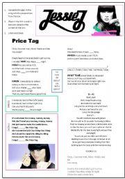 English Worksheet: Jessie J - Price Tag