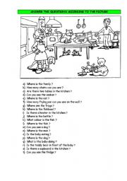 English Worksheets: questions about the picture