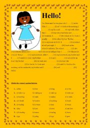 English Worksheet: Present Simple Tense - Cloze Test - Olivia�s Daily Routines + KEY