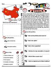 English Worksheet: RC Series_Level 01_Country Edition_63 China (Editable)