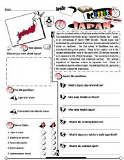 English Worksheet: RC Series_Level 01_Country Edition_64 Japan (Fully Editable)