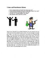 English Worksheet: Crime and Punishment Idioms