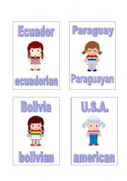 English Worksheet: Countries and Nationalities part 8