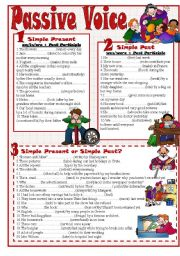 English Worksheet: Passive Voice(S.Present-S.Past)
