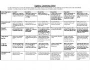 English Worksheets: Uglies by Scott Westerfeld learning grid