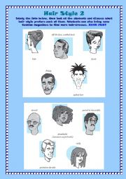English Worksheets: Hair Style 2