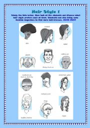 English Worksheets: Hair style 1