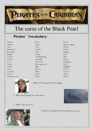 English Worksheet: Pirates of the Caribbean: The curse of the Black Pearl
