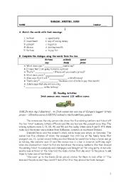 English Worksheets: Lottery winner