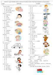 English Worksheet: health - possessive pronouns - jobs and hobbies test