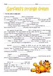English Worksheet: Garfield�s strange dream