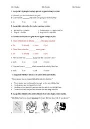 English Worksheets: QUESTIONS FOR 8th GRADES FOR TURKISH TEACHERS