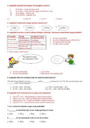 English Worksheets: 8th grades questions for Turkish Teachers