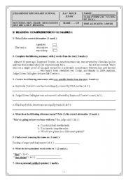 English Worksheet: Bac Mock Exam 4th form ( Maths ), Tunisia.