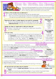 English Worksheets: Essay Writing Guide, Reuploaded.