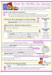 English Worksheet: Essay Writing Guide, Reuploaded.