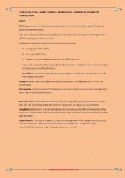 English Worksheets: correction codes