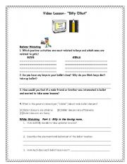 English Worksheets: VIDEO LESSON: BILLY ELLIOT