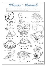 Printables Esl Phonics Worksheets english teaching worksheets phonics animals