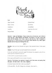 English Worksheets: Much ado about nothing script