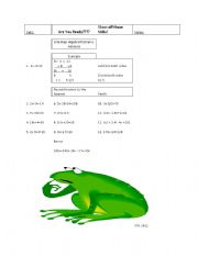 English Worksheets: One Step Advance