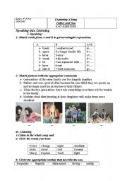 English Worksheet: father and son