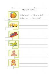 English Worksheets: writing: what is it?