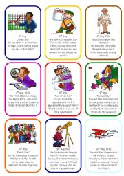 English Worksheets: WRITING OR SPEAKING CARDS - MAY