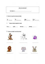 English Worksheets: Consolidation worksheet